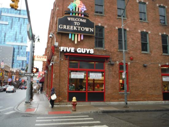 Five Guys at the Greektown