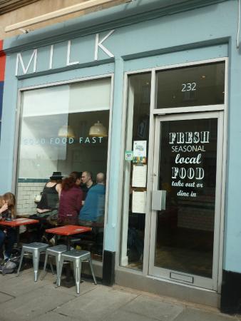Milk: cafe
