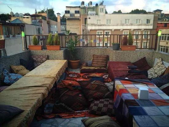 Istanbul Harmony Hostel : awesome rooftop