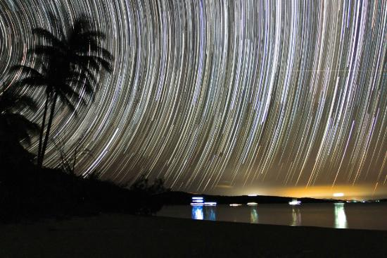 Svendsens Beach: Star track exposure taken on our beach