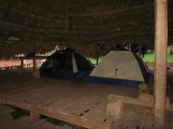 Adventures Panama : set up at Embera Village