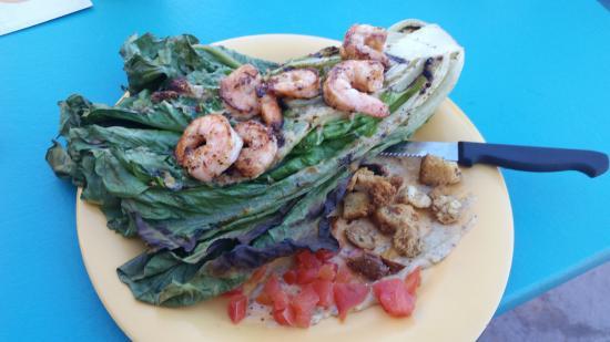 Saguaro Corners Restaurant: Caesar wedge with added Shrimp