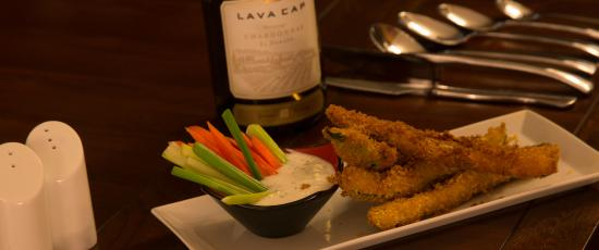 Meadow Vista, CA: Zucchini Branches w/ Maple Sour Cream dip.