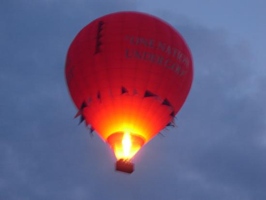 Bird-In-Hand Family Inn: Balloon launches across the street