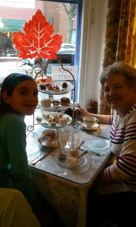 Serenity Tea Room : Getting ready to enjoy our treats