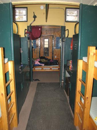 Twin Mountain KOA: Inside of caboose