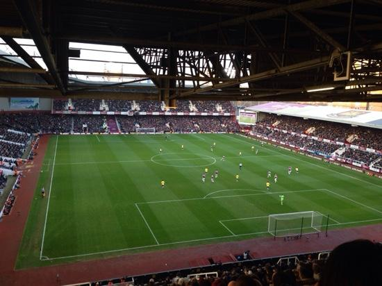 West Ham United FC: Vista da ultima cadeira atras do gol