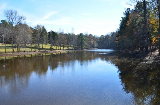 Musgrove Mill State Historic Site: The lake at the visitor's center, Musgrove Mill