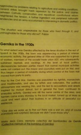 Gernika Peace Museum Foundation : 館内の展示