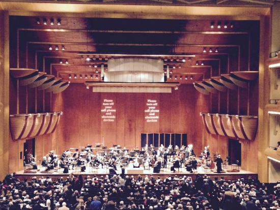 New York Philharmonic : The view of the orchestra from our seats