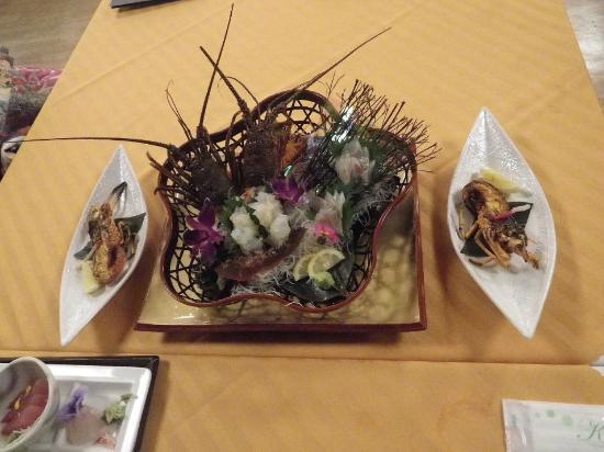 Kyukamura Irako : 伊勢海老活き造り