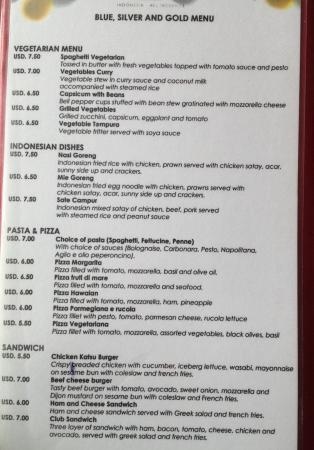 Sol Beach House Benoa Bali By Melia Hotels International: Differences  Between Menu Choices At El