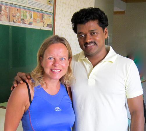 Cyril Yoga Ayurveda Centre: Me and Cyril