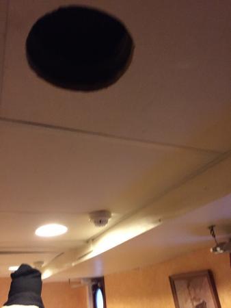 Loginn Hotel: Un buco sul soffitto