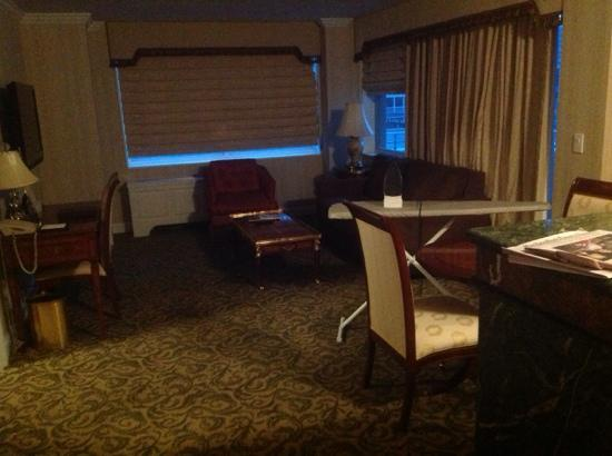 The Kimberly Hotel: lounge room - dont mind the ironing board