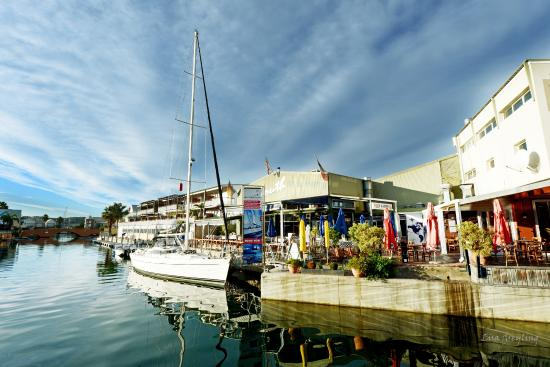 Springtide Sailing Charters: Yacht moored at the Knysna Quays