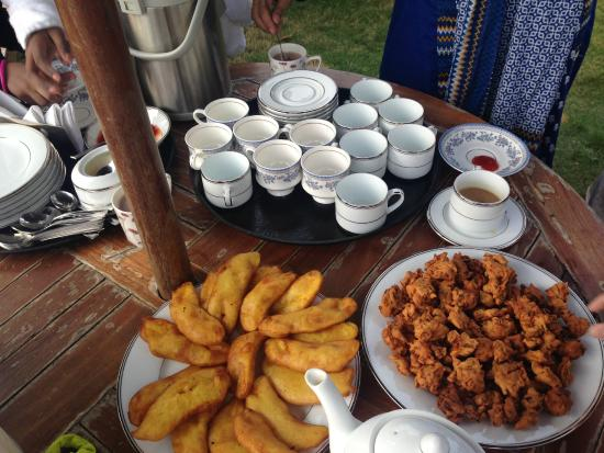 evening tea served wit traditional snacks - Picture of ...