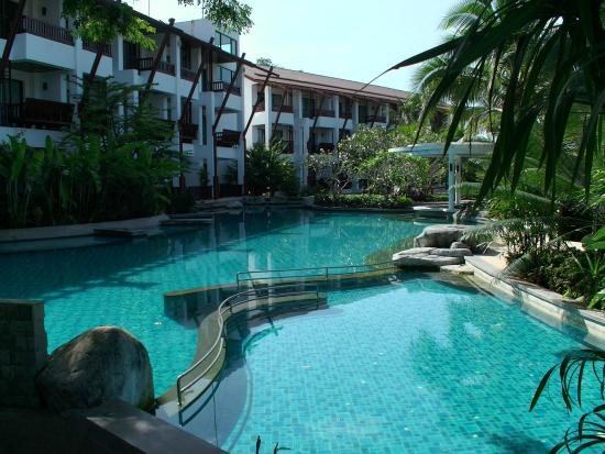 The Elements Krabi Resort: Main room block and pool