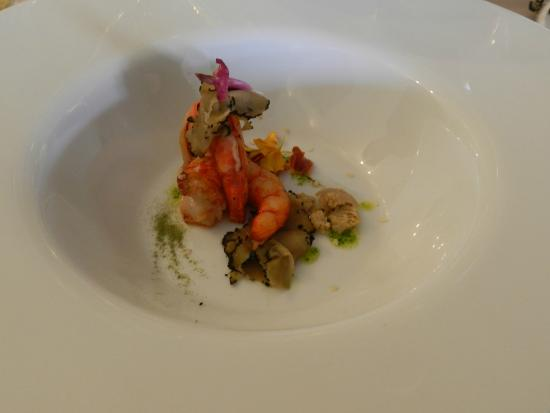 Restaurante Granero: Red shrimp and foie