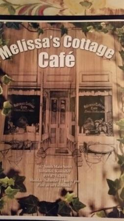 Melissa Cottage Cafe: Menu