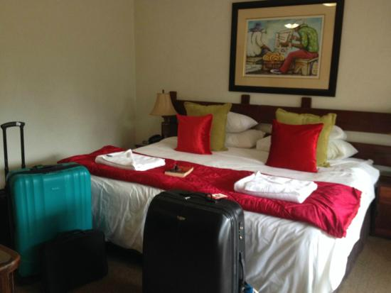 Afrique Boutique Hotel Oliver Tambo : Our room and our big bed!