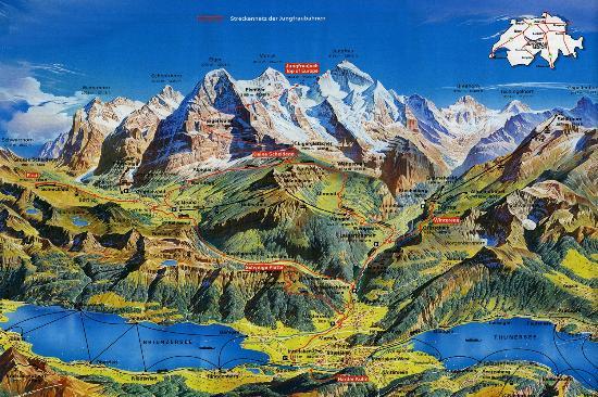 Hotel Rössli: Interlaken/Oberland map