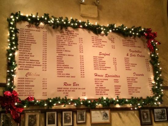 Carmine S Italian Restaurant Atlantic City Menu