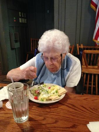 Cracker Barrel: Mom enjoying a crisp salad
