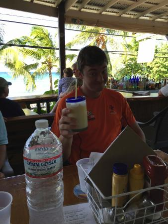 Eat at Cane Bay: Smallish drinks but great atmosphere and view