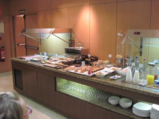 Eurostars Monumental: il buffet della colazione
