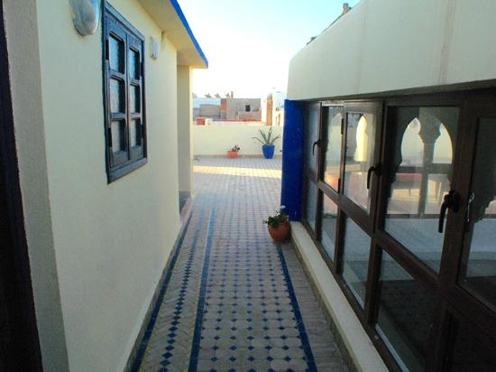 Maison du Sud : Entrance to roof room plus top of Riad