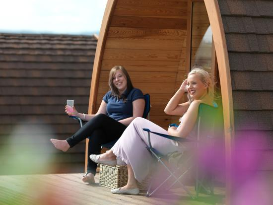 Bay View Holiday Park: Relaxing in the Pod