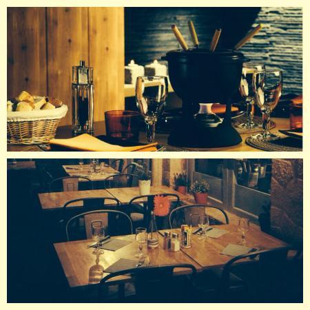 Cafe du Gros Caillou : Fondue savoyarde/Mobilier de la Véranda