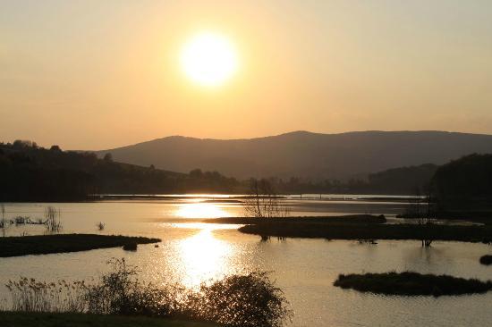 Furth im Wald, Deutschland: Sonnenuntergang am Drachensee