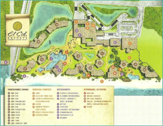 Hotel Marina El Cid Spa & Beach Resort : Map of El Cid Puerto Morelos