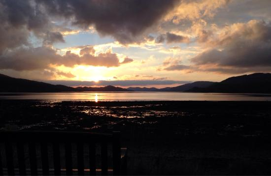 This is a sunset over Loch Fyne about 20 minutes from Home farm cottages.