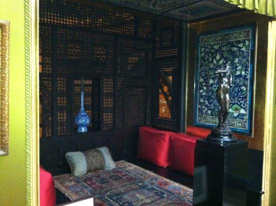 Leighton House Museum and Art Gallery: Sneak peek of handwoven textiles and handcarved screens in Leighton House Museum.