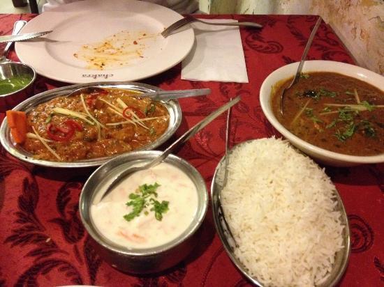 Chakra: Dal curry and Raita