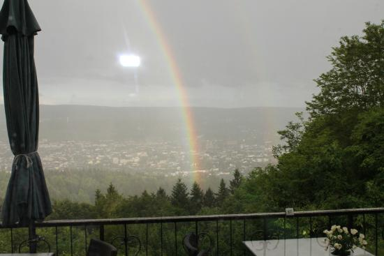 Berghotel Kockelsberg: ranbow seen from the restaurant