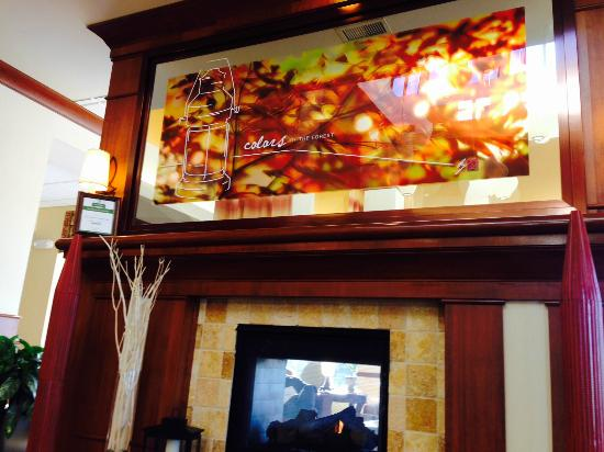 Hilton Garden Inn Oconomowoc: attractive fireplace, TA Excellence, but no mattress awards