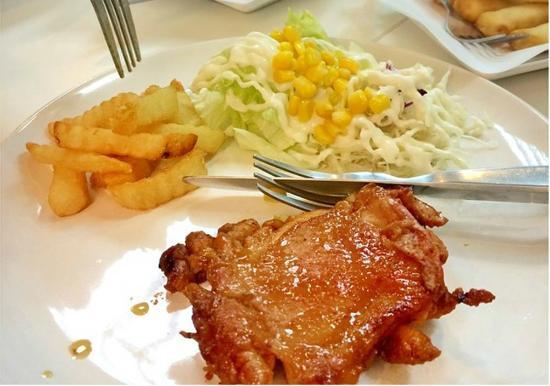สเต กไก สไปซ mild spicy chicken steak picture of papa