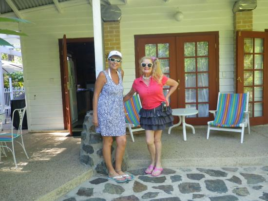 Mooloolah Valley Holiday Houses : Porch on Picaninny Cottage - with owner Atalanta