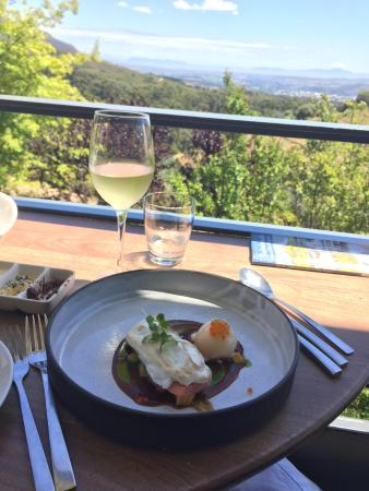 Tokara Restaurant : Trout with meringue and salmon ice cream!