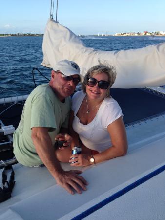 Catamaran Echo: Great evening with my Hubby!