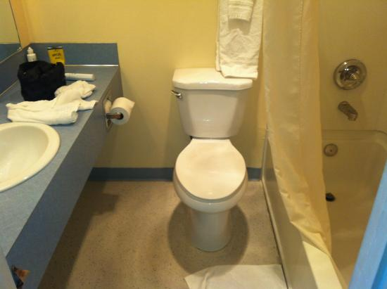 Travelodge Portland City Center : outdated bathroom, adequate