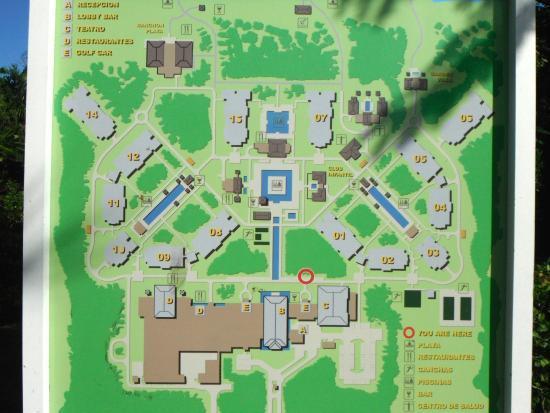 Playa Cayo Santa Maria Map Map of resort   Picture of Hotel Playa Cayo Santa Maria, Cayo