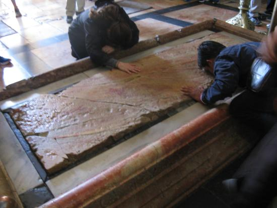 Guided Tours Israel - Day Tours: the place where Jesus is said to have been laid out