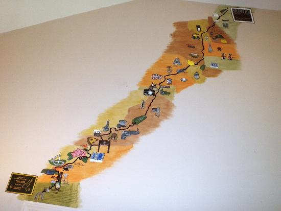 Appalachian Trail In Georgia Map.Appalachian Trail Mural Picture Of Top Of Georgia Hostel And