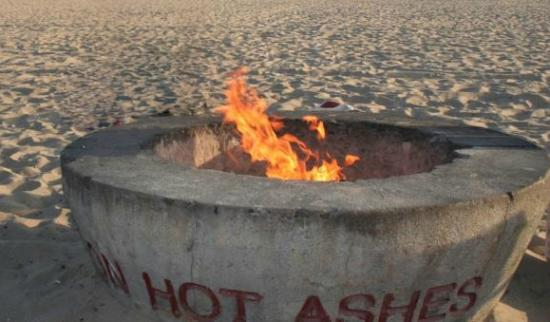 Fire Rings at Bolsa Chica State Beach - Picture of Bolsa ...