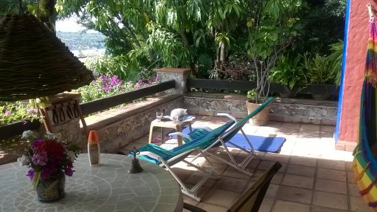 La Casa del Guamuchil: terraza de nuestra habitacion